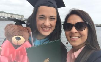 Tia Luker and her wife Amber Putra at Lesley's commencement