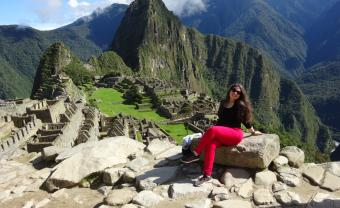 holistic psychology alum carolyn kaufman at machu picchu