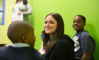 A former teacher and caseworker, Jana Karp created the Boston Youth Sanctuary for children and families impacted by trauma.