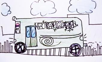 illustration of a school bus