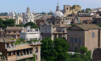 rooftop view of Rome, Italy