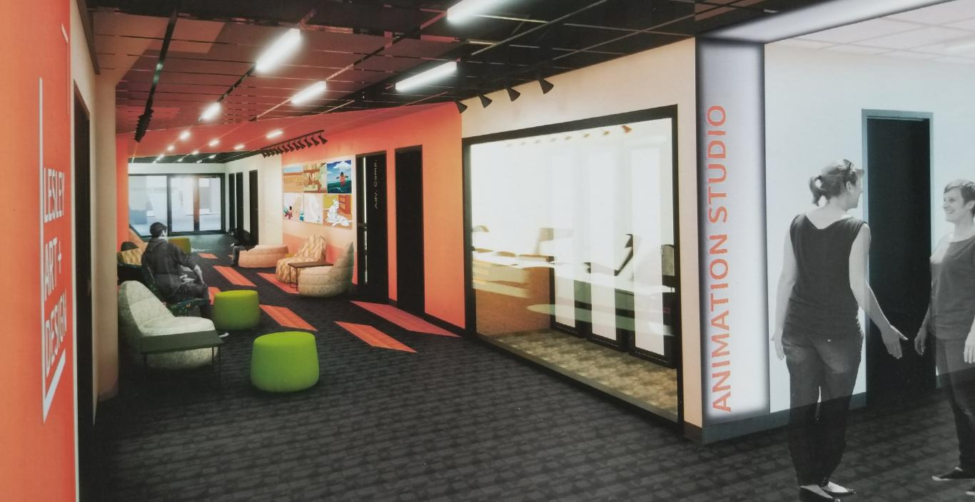 Rendering of the digital animation studio