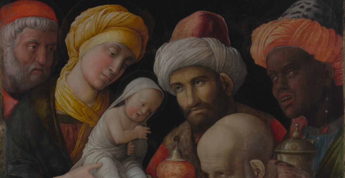 Medieval painting: The Adoration of the Magi by Andrea Mantegna