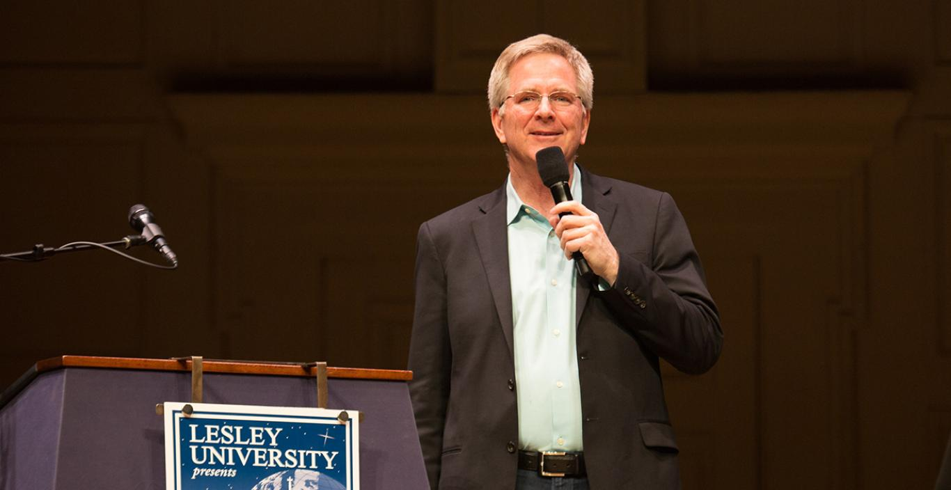 Rick Steves speaks at Boston Symphony Hall