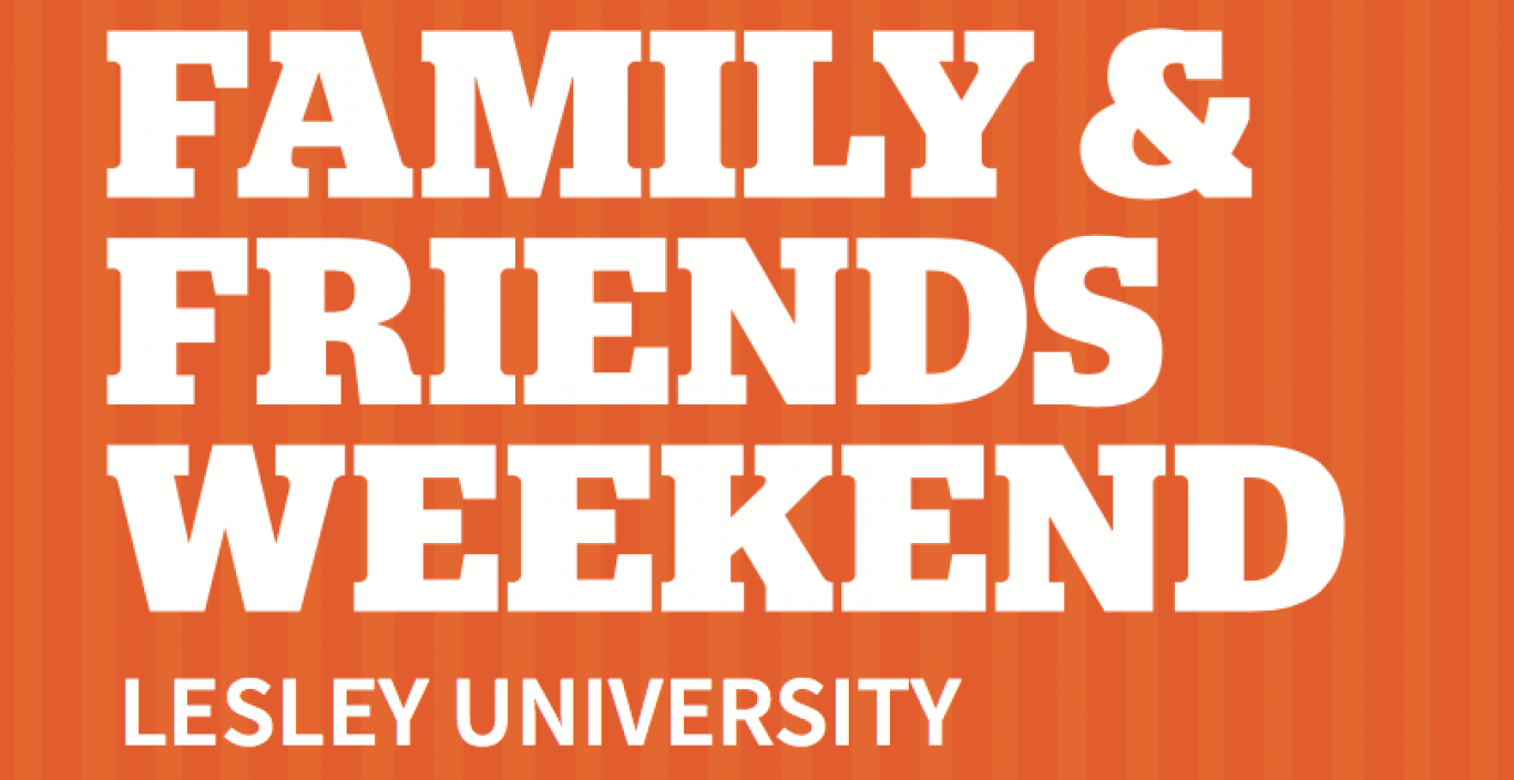 Orange Family & Friends weekend postcard