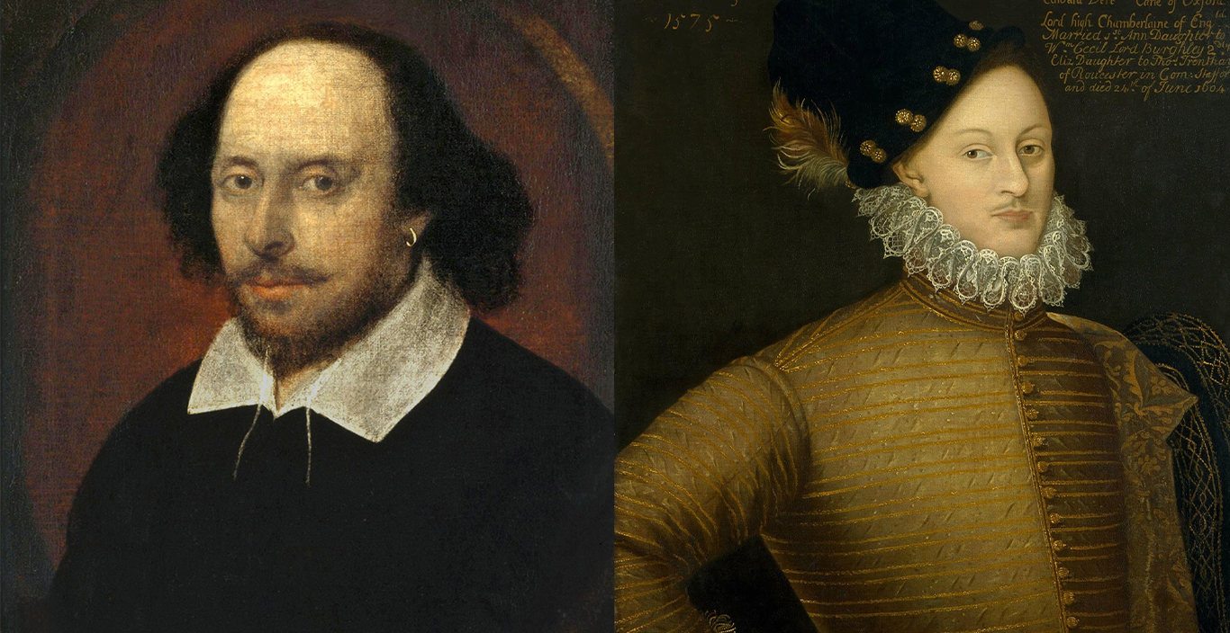 Portraits of William Shakespeare and Edward De Vere