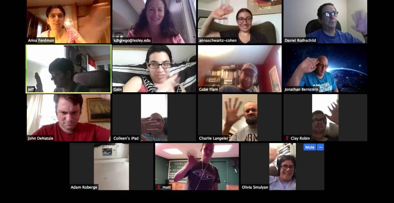 Threshold alumni socialize on Zoom