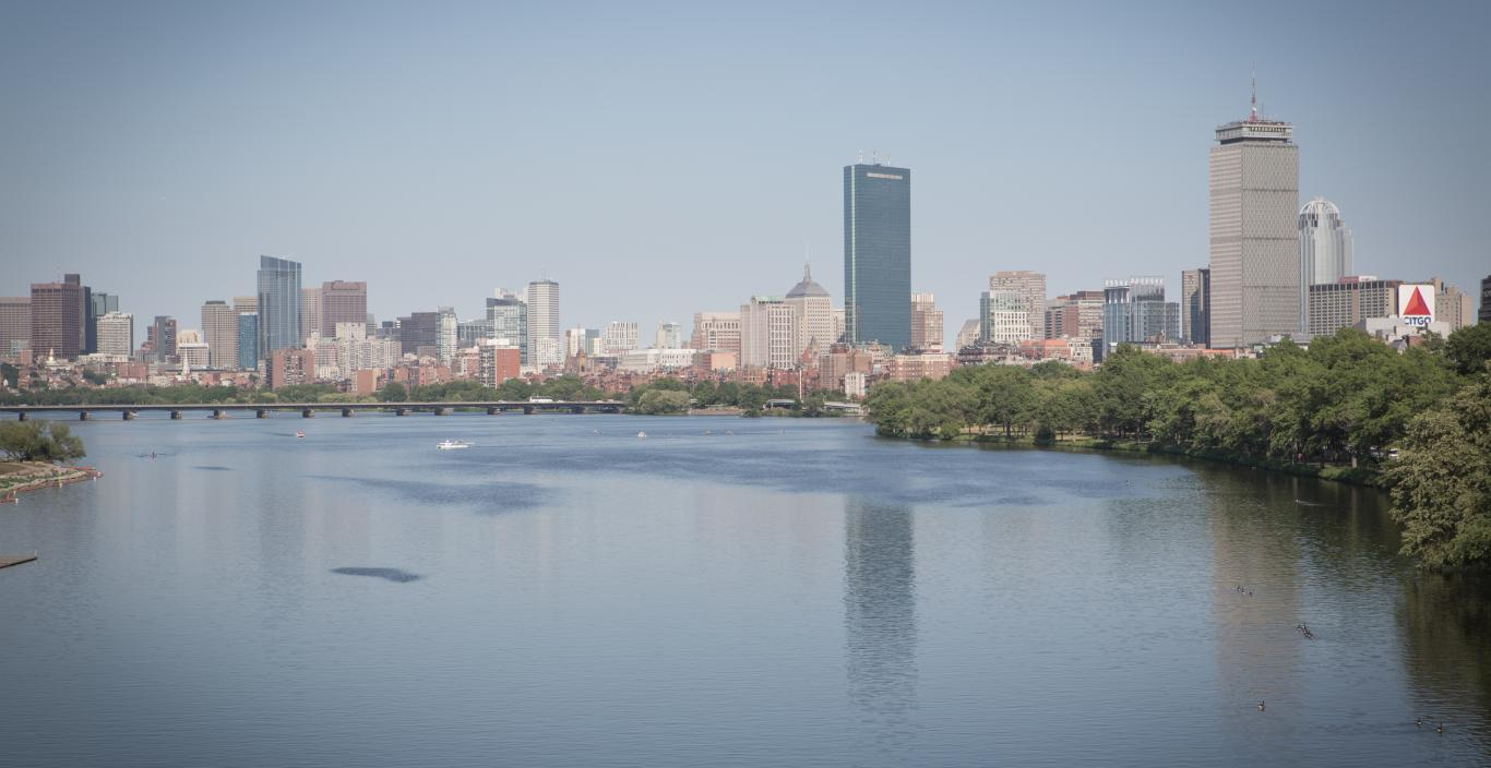 view of boston from the charles river