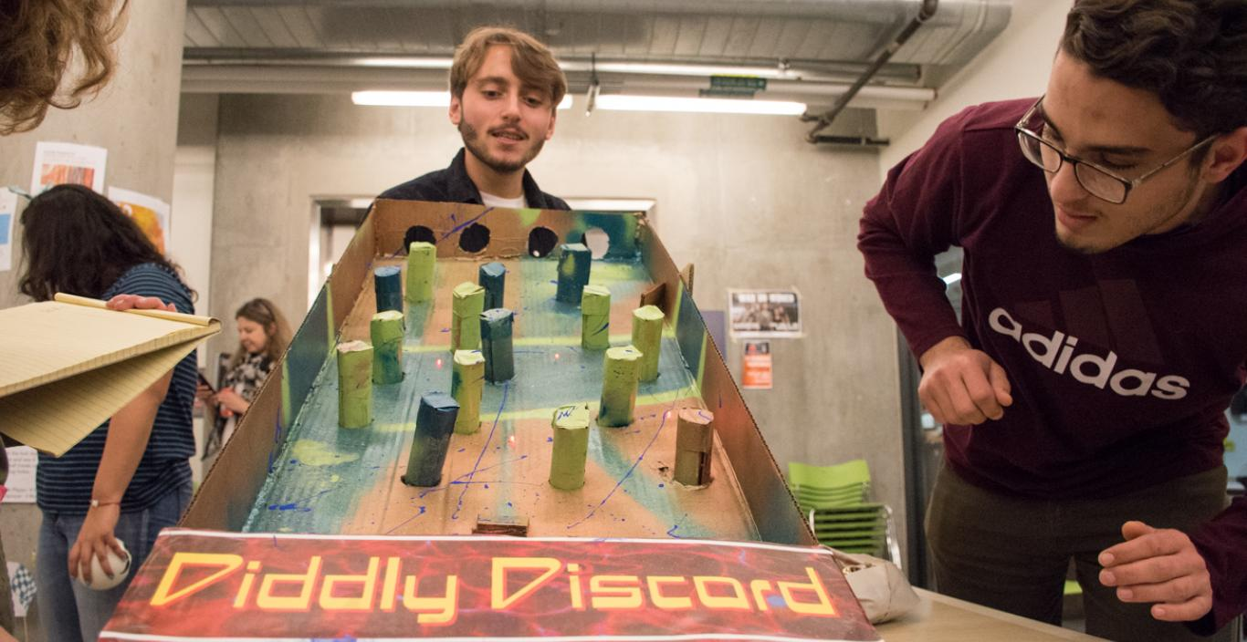 "People look at the Plinko-esque ""Diddly Discord."""