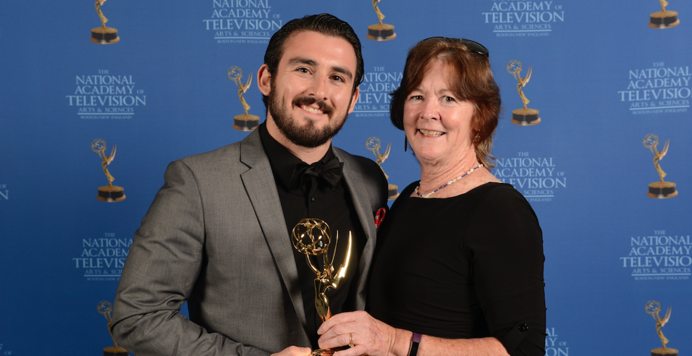 Devin Ferreira and Mom at Emmy awards