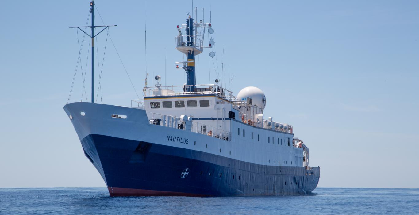 Exploration Vessel Nautilus at sea