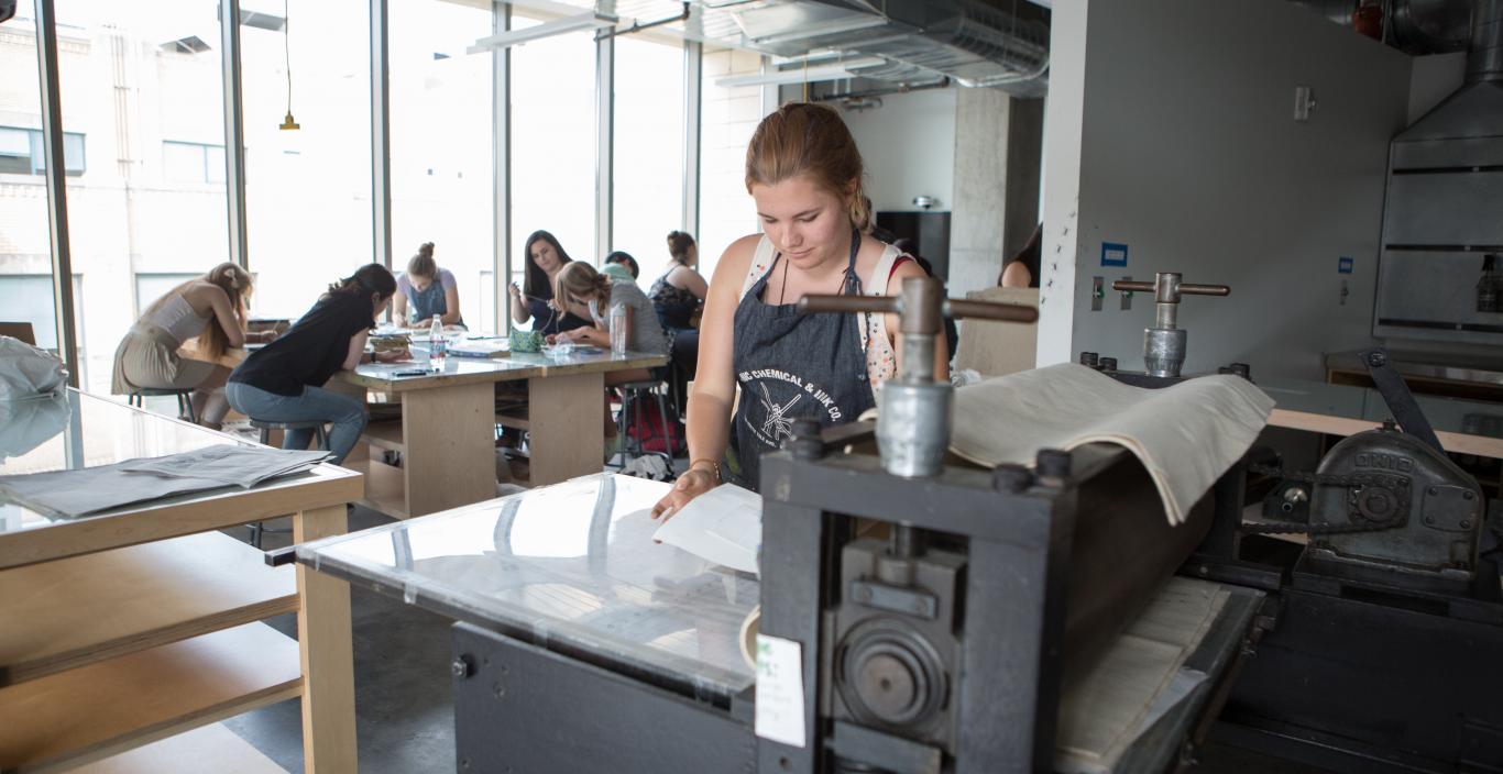 Lunder Arts Center Printmaking Studio