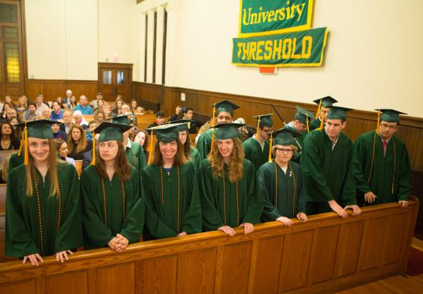 Threshold students prepare to graduate.