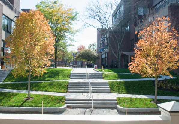 doble campus quad ramp and stairs