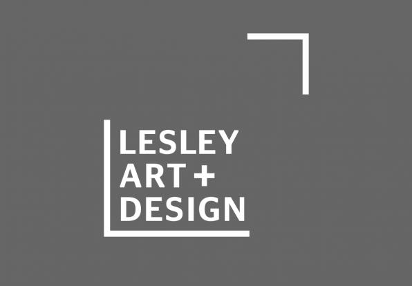 Lesley Art + Design subbrand mark in gray