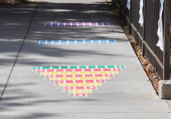 painted sidewalk